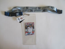 NEW YORK YANKEES TWO TONE LANYARD WITH TICKET HOLDER & COLLECTABLE PLAYER CARD