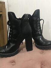 Guess Boots Miltary Combat Style Size UK 6.5 Black