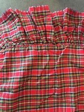 Ralph Lauren Boulevard Tartan Red Plaid Ruffle Standard Size Pillow Sham Set (2)