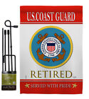 US Coast Guard Retired Garden Flag Armed Forces Decorative Yard House Banner