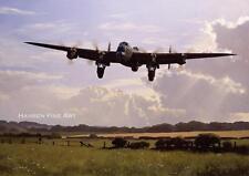 Avro lancaster bomber command aircraft avion anniversaire fête des pères carte vierge