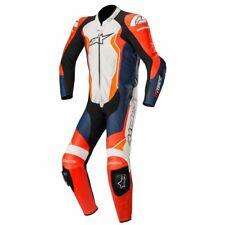Alpinestars GP Force Leather Race Motorcycle 1 Piece Suit - White / Orange