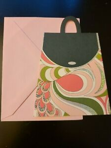 Tender Thoughts Pink Sparkly Purse Notecard with Envelope