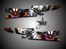 Arctic Cat ProClimb ProCross Tunnel Graphics Kit Wrap Evil Joker Orange 2012-15