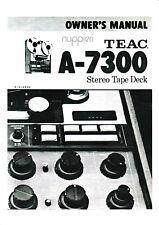 Bedienungsanleitung-Operating Instructions für Teac A-7300
