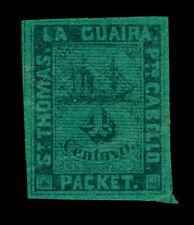 DWI 1870 Steamship - St.Thomas - La Guaira - 4c green  Yvert # 6A mint MH - Rare