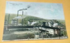 1910 Irwin PA. Penna Gas Coal Mine Co. Works Tipple & More Postcard Repo