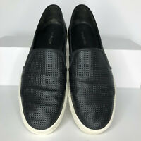 Vince Blair Womens Size 8 Black Leather Slip On Shoes