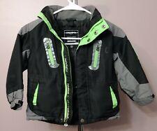 Hawke Sport 4T Coat Jacket Boy's Clothes Grey Lime Black