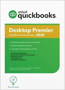 1 User QuickBooks Desktop Premier 2020 Accounting Software US No subscriptions
