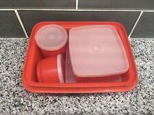 Tupperware Pak-N-Carry Lunchbox Set 10 Piece Set