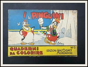 ⭐️ I PINGUINI - Quaderni da Colorire - Regno di Topolino - 1935 - DISNEYANA.IT ⭐