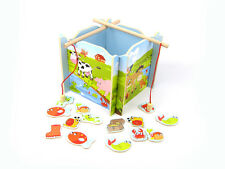 Children's Wooden Toy Fishing Game & 2 x Caterpillar Story Puzzle Pack!