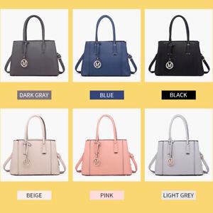 Large Women Designer PU Leather Handbag Ladies Shoulder Tote Laptop Bag