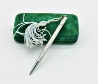 Vintage Sterling Silver Mechanical pencil working Statement Gift Art deco #N873