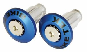 BIKETEK UNIVERSAL FLUSH FIT BAR END WEIGHTS TO FIT 13MM & 18MM INNERS - BLUE