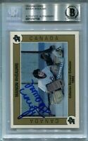 MANON RHEAUME signed autographed PEE WEE ROOKIE CARD RC BECKETT (BAS)