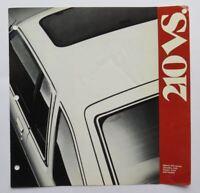 1981 Datsun 210 Comparison Brochure Vintage Original