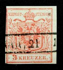 Österreich 1850   3 Kr. Type Ia  Lom.- Venetien Stempel