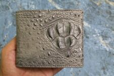 Gray Genuine Alligator ,Crocodile Leather Skin Men's Wallet Slim