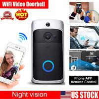 Smart WiFi Wireless Doorbell Video Two-Way HD Talk PIR Door Bell Security Camera