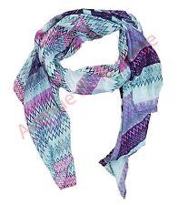 Foulard cheche écharpe lignes violettes accessoire de mode XXL 170x90 cm NEUF