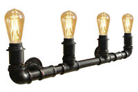 Vintage Unique Style Industrial Steampunk Rustic Water pipe Wall Light B1009