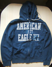 American Eagle Blue Hooded Sweatshirt Full Zip Hoodie Women's Medium Vintage Fit