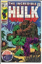 INCREDIBLE HULK #121 --- 1ST APP GLOB!! TRIMPE!! Marvel!! Nov 1969!! VG!!