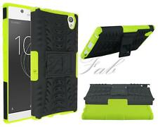 For Sony Xperia L1 G3311 New Shock Proof Stand Phone Case Cover + Temp Glass