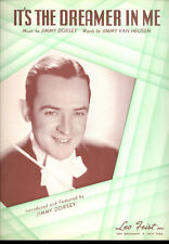 "JIMMY DORSEY Sheet Music ""It's The Dreamer In Me"" 1938"