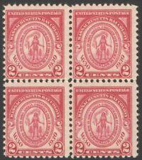 Vintage Unused US Postage Block 2 Cent Stamps Massachusetts Bay Colony 1630-1930