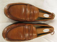 Allen Edmonds Mens Tan Penny Loafers 9D