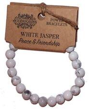 WHITE JASPER POWER BRACELET Peace & Friendship CRYSTAL HEALING