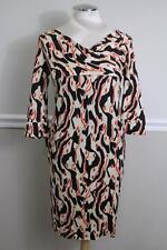 Diane Von Furstenberg Women's Francesca Silk Pattern Cowlneck Dress SIZE 4 (dr10
