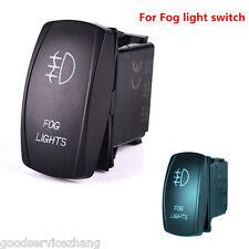 5 Pins Blue LED Light Laser Rocker Switch Backlit Fog lights On-Off 12V 20A Car