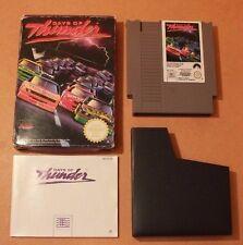 Days of Thunder PAL Nintendo NES COMPLETE CIB VGC Car Racing Game