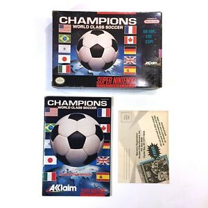 Champions World Class Soccer (Nintendo SNES) - Original Box Manual Only