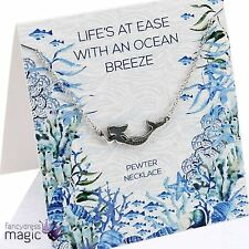 40cm Pewter Chain Mermaid Ariel Ocean Necklace Sentiment Card Envelope Gift