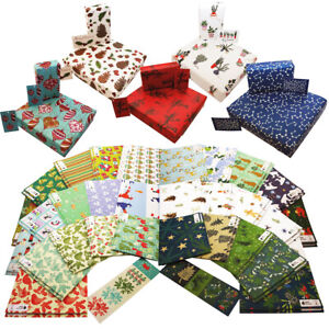 Luxury Christmas Wrapping Paper - 100% Recycled - Made in the UK - Biodegradable