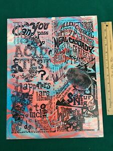 ACID TEST POSTER-Board Signed by KEN KESEY and the MERRY PRANKSTERS #ed COA