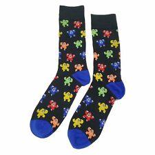 NWT Multicolor Gorilla Dress Socks Novelty Men 8-12 Black Fun Sockfly