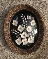 Vintage Mid Century Hand Crafted Seashell Art From Florida - 70's - Free Ship