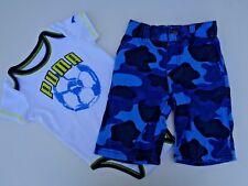 Lot 2 Baby Boys Clothes Summer Puma Romper Gymboree Camo Shorts Sz 18-24 M