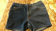 "LEE REGULAR FIT DARK WASH SHORTS POSSIBLE 14 OR 16 MEASURES 35"" X 5"""