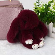 Rex Rabbit Fur Cute Bunny Pom Ball Doll Toy Keychain Cute Handbag Pendant Decor
