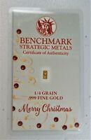 10 X GOLD 1//60 GRAM TEN PACK PURE .999 FINE 24k GOLD CHRISTMAS BAR 17