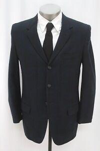vintage 50s mens blue plaid TOWNCRAFT blazer jacket sport suit coat wool 40 S