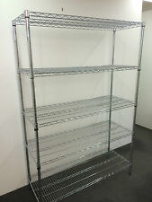 H160xW90xD45cm 5 tiers Chrome Steel Storage Wire Shelving Display Shelf Rack