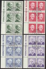Faroe Islands 1984 Writers, marginal Blocks of 6 with 1st Day cancels